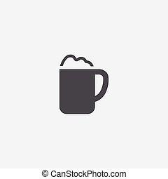 simple cappuccino icon - cappuccino icon, isolated, white...