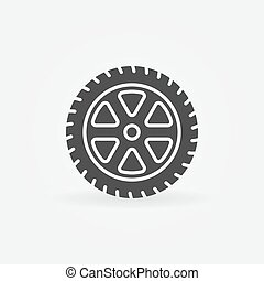 Simple car wheel icon