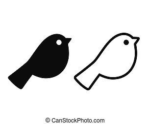 Simple cartoon bird icon