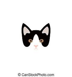 Simple cartoon kitty