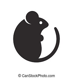 Simple cartoon mouse icon