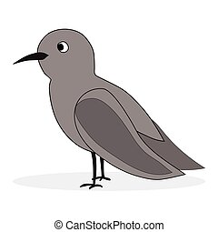 Simple cartoon nightingale. Bird florence nightingale,...