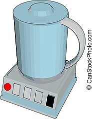 Simple cartoon of a blue blender vector illustration on white background