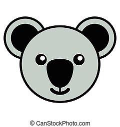 Simple cartoon of a cute koala