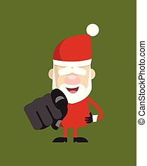 Simple Cartoon Santa - Laughing and Pointing