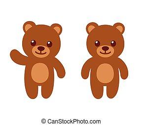Simple cartoon teddy bear