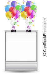 Simple celebration frame template