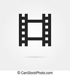 simple celluloid film black icon