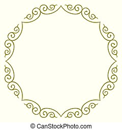 simple, cercle, frontière, conception, cadre