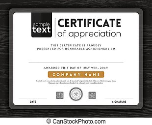 Simple certificate border frame design template