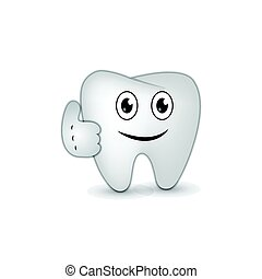 simple character tooth vector ilustration