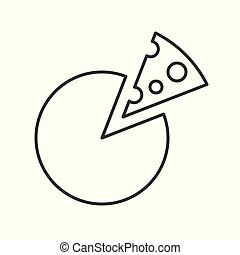 Simple Cheese, Food outline icon vector illustration