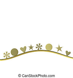 simple christmas background gold and white blank