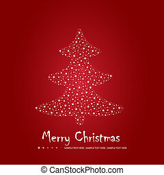 Simple Christmas greeting card