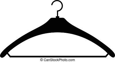simple, cintre, noir, icône
