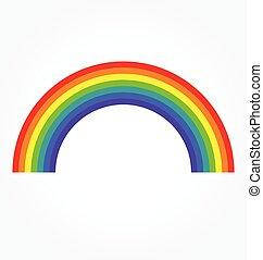 simple classic rainbow vector