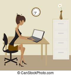 Simple Clip Art Office Scene