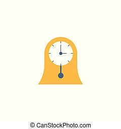 simple clock vector icon in flat style