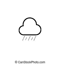 Simple cloud and drizzle icon - Simple cloud and drizzle...