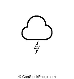 Simple cloud and lighting icon - Simple cloud and lighting...