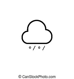 Simple cloud, rain and snow icon - Simple cloud, rain and...