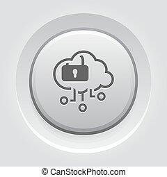 Simple Cloud Security Vector Icon