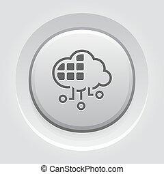 Simple Cloud Services Vector Icon