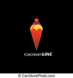 simple colorful abstract icecream vector logo icon