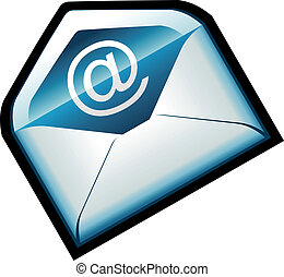 Colorful Blue Email Icon