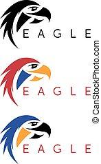 simple colorful eagles vector design template set