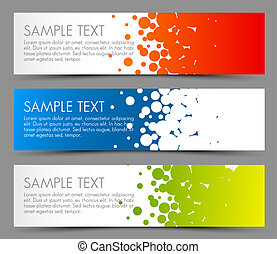 Simple colorful horizontal banners - with circle motive