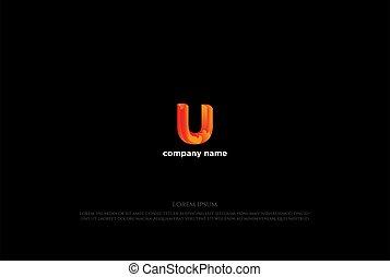Simple Colorful Modern Letter U Logo Design Vector