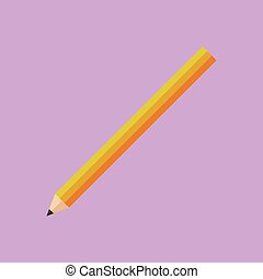 Simple Colorful Pencil Vector Illustration