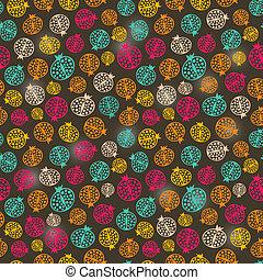 Simple Colorful Pomegranate Seamless