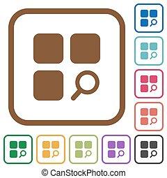 simple, composant, trouver, icônes