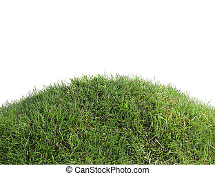 simple, coupure, herbeux, colline