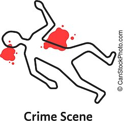 simple crime scene icon isolated on white background. ...