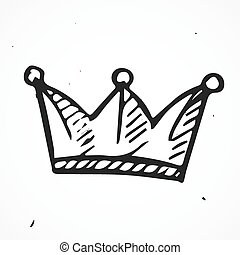 Simple crown icon, hand drawn