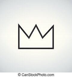 Simple Crown Icon Vector illustration, isolated on white background.