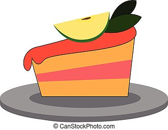 Simple cupcake with colorful sprinkles vector illustration on white background.
