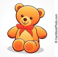 simple cute teddy bear vector