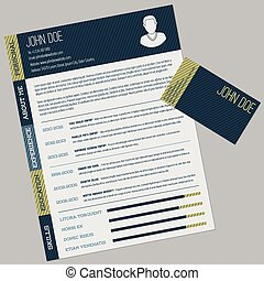 Simple cv with business card
