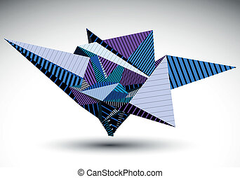simple, cybernétique, élément, polygonal, ge, contraste, ...