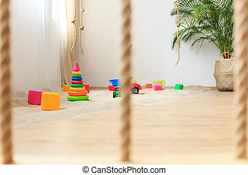 Simple decor of room