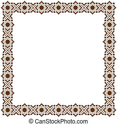 Islamic frame - Simple decorative Islamic frame