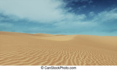Simple desert landscape sandy dunes and blue sky - Simple...