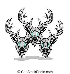 Simple design of head deer