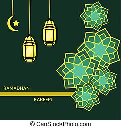 Simple design of illustration islamic background decorative