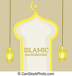 Simple design of illustration islamic background vector