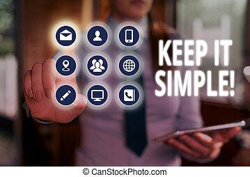 simple., detail., tekst, het tonen, meldingsbord,...